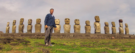 Carlos Hiller at Easter Island