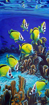 Butterfly fish painting